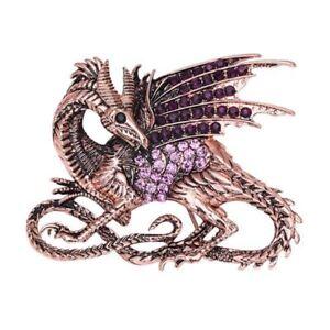 Alerte Shiny Dragon Broche épinglette Vivid Strass Robuste Broche Pin-afficher Le Titre D'origine Gagner Une Grande Admiration