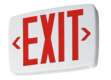 No1 Lithonia Lighting Quantum Thermoplastic Led Emergency Exit Sign For Sale Online Ebay