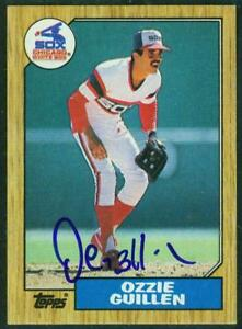 Original-Autograph-of-Ozzie-Guillen-of-the-White-Sox-on-a-1987-Topps-Card