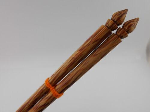 Vintage baguettes en bois Baguettes faite main fabriquée en bois dur Thai
