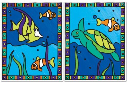 Fische ohne Mischen Mein erstes Malen nach Zahlen Doppelset Wasserschildkröte