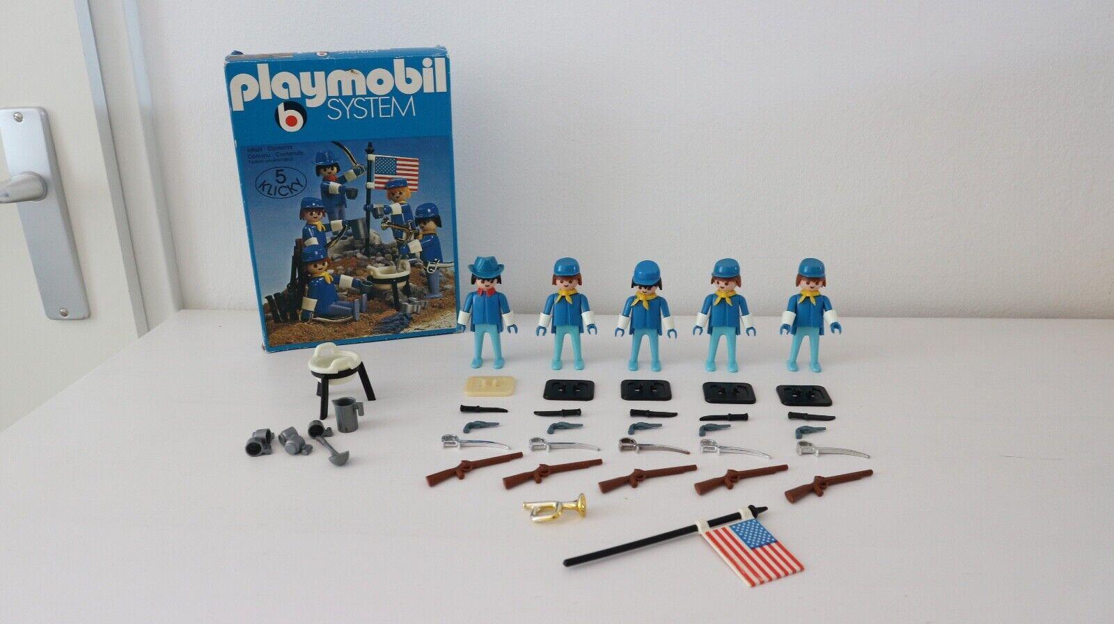 Playmobil 3242 v2 set western  union, civil war, cowboy, artillery, beits, fort  wholesape economico