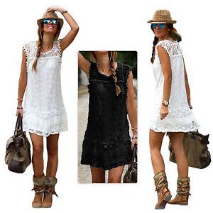 Ladies-Boho-Crochet-Lace-Dress-Evening-Party-Casual-Mini-Summer-Beach-Petticoat
