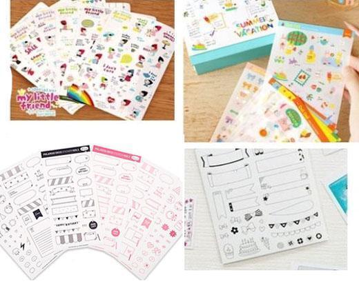 Mini Decoration Stickers For DIY Pringo  Fujifilm Polaroid Instax album Film