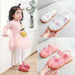 Summer-Infant-Toddler-Kids-Baby-Girls-Flower-Single-Princess-Shoes-Sandals
