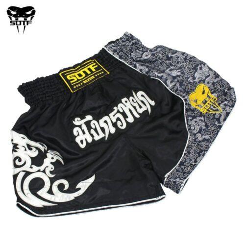 Men Boxing Pants Printing MMA Shorts Kickboxing Fight Grappling Short Muay Thai