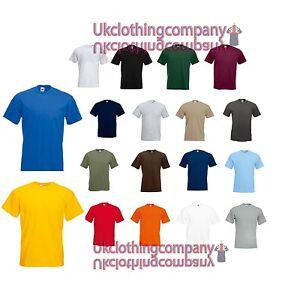 Fruit-Of-The-Loom-Super-Premium-T-Shirt-Men-039-s-plain-tops-S-M-L-XL-2XL-3XL