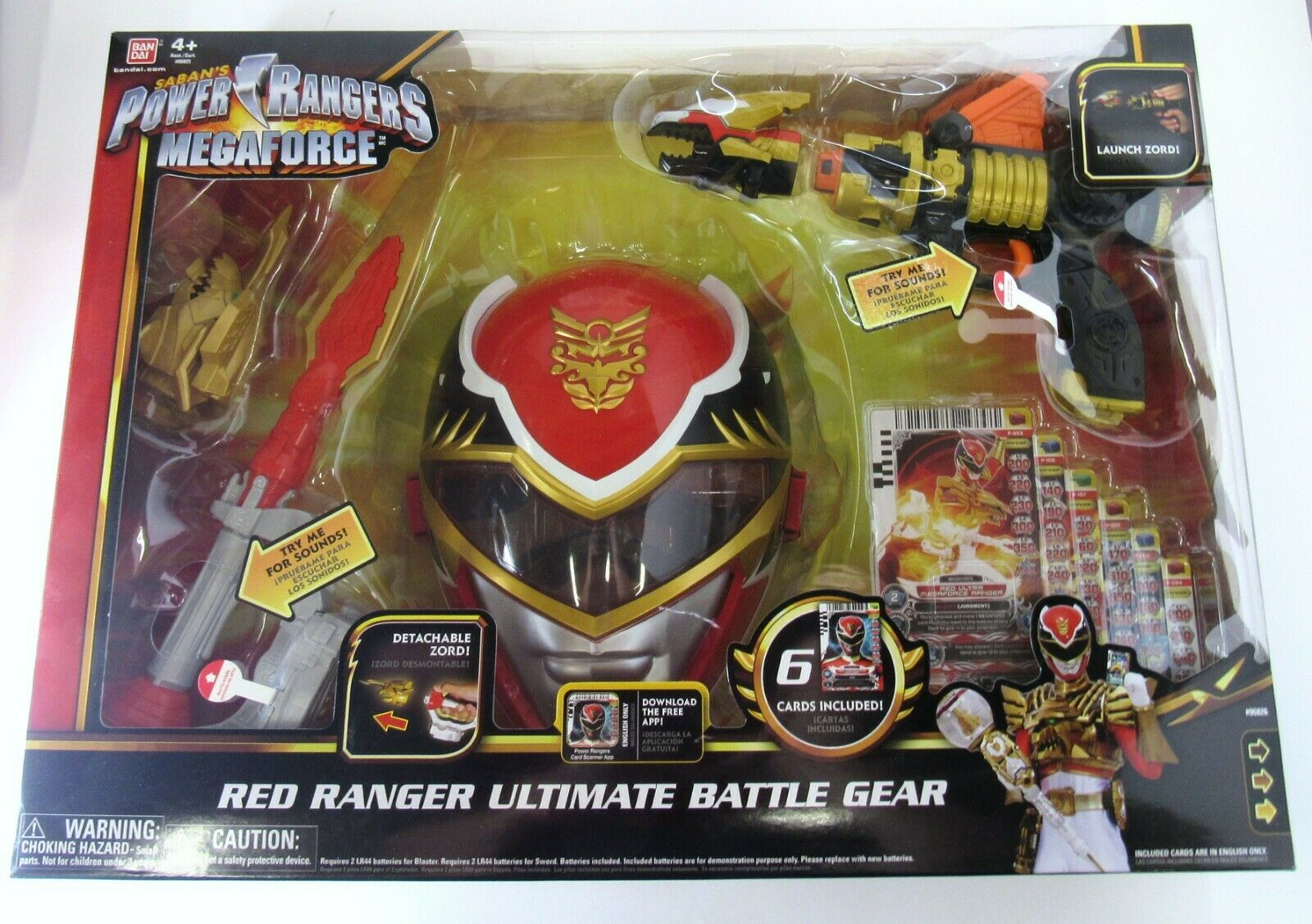 New    Bandai Power Rangers Megaforce Red Ranger Ultimate Battle Gear 2013 Rare 9953c0