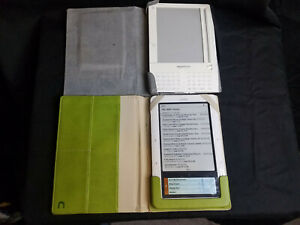 Lot-of-2-Bundled-E-Book-Readers-Kindle-and-Nook-1st-Edition