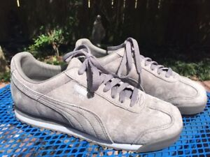 purchase cheap bc41a 018a7 Details about Puma Roma Grey Suede Women's Size 7.5