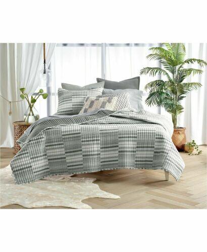 Lucky Brand Broken Stripe 100% Cotton Quilt - King - Black / White