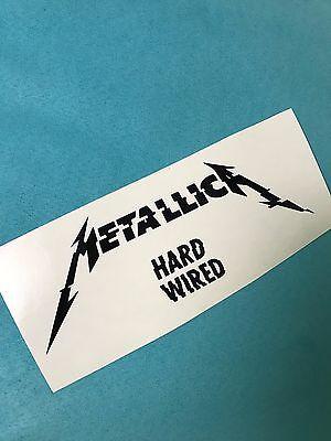 Metallica Hard Wired Aufkleber Car Window Laptop Sticker Vinil Decal 193