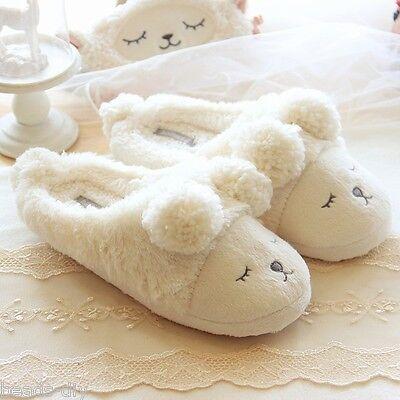 2016 New Winter Women Fleece Warm Shoes Cute Sheep Soft Indoor Home Slippers