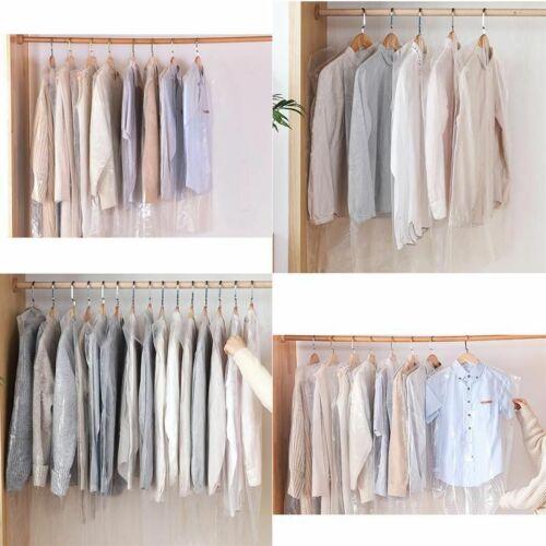 50PCS Dustproof Cover Plastic Dust Covers Disposable Garment Covers Dust