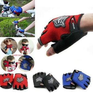 Outdoor Sports Cycling Bike Bicycle Half Finger Fingerless Gel Short Gloves New