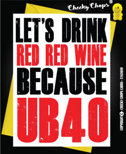 Image Is Loading Birthday Card 40th 40 For Wine Lover UB40