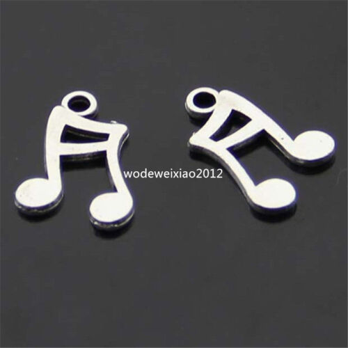 30pc retro Tibet Silver Pendant music symbol Charm Beads accessories  PL080