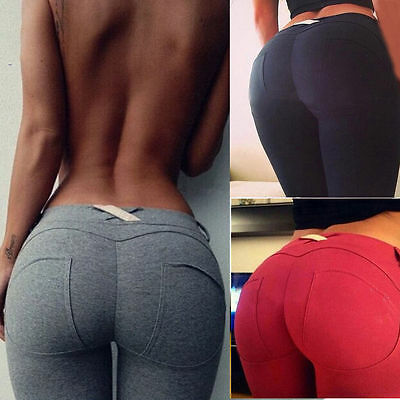 Sexy Womens Skinny High Waist Leggings Stretchy Bodycon Pencil Pants Trousers