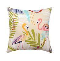 Flamingo Outdoor Pillow, Richloom Flamingo Spring Birds Outdoor Throw Pillow