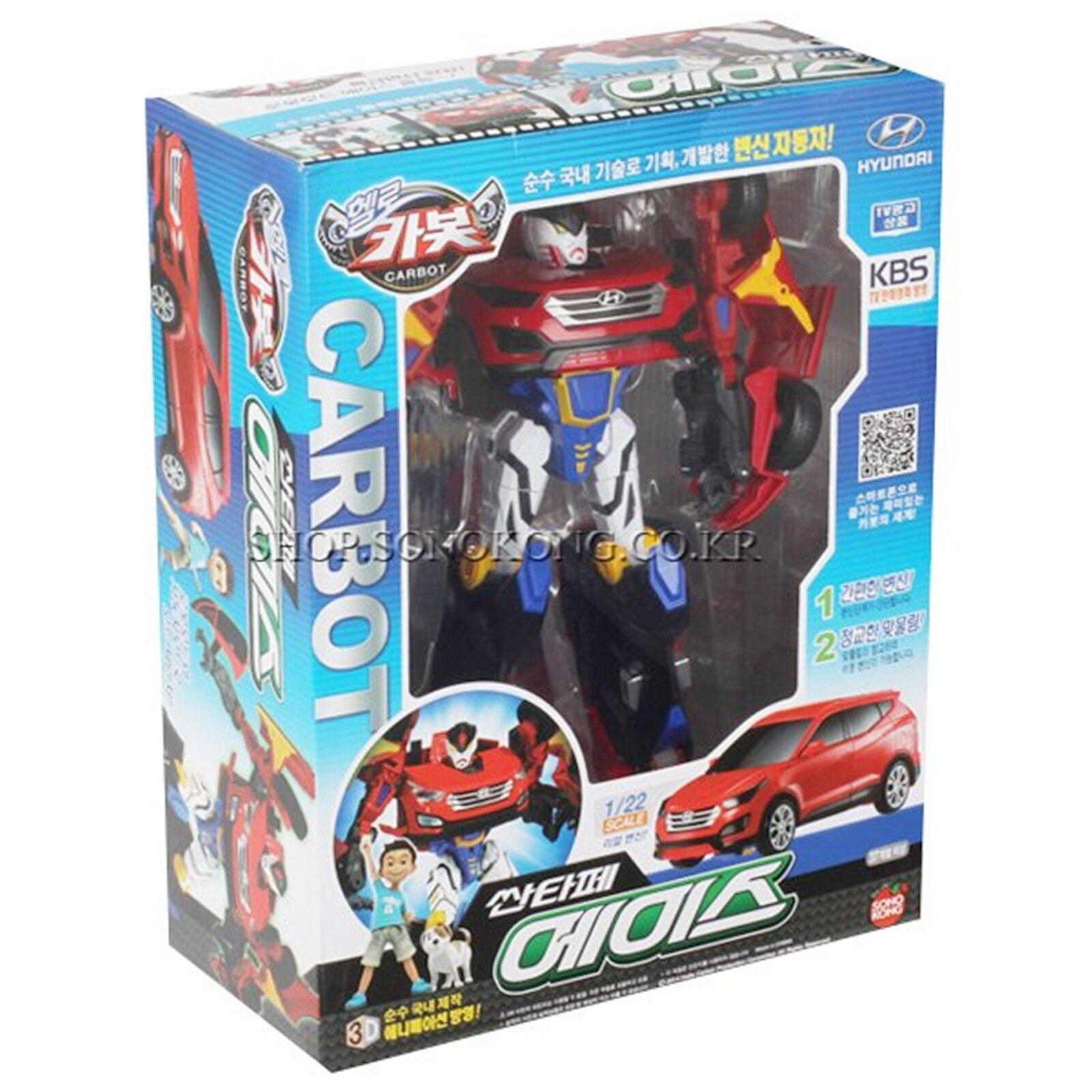 Hej bilbot 1  23 skala Hyundai SANTAFE ACE röd Transformer Robot bil leksak