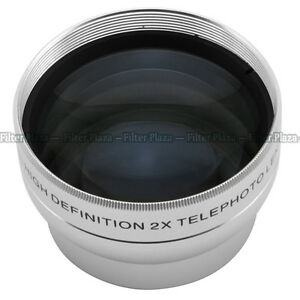 37mm 2.0X Magnification Telephoto Tele Converter Lens for Digital Camera 2X 37