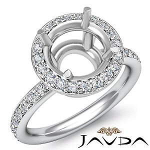 Round-Cut-Diamond-Engagement-Semi-Mount-Ring-18k-White-Gold-Halo-Setting-0-53Ct