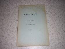 1898.conférence sur Michelet / Olivier Billaz.envoi autographe.lycée Buffon Pari