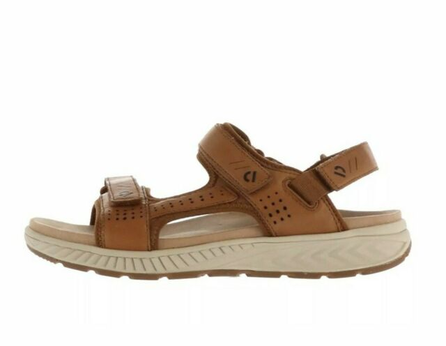 Earth Leather Adjustable Sport Sandals Size 9.5 Brown Leather Mira Azore Alpaca