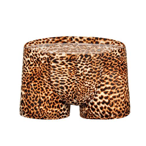 Herren Sommer Boxershorts Unterwäsche Leopardenmuster Niedrig Sitzende Badehose