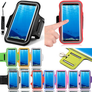 new product 95d01 852c8 Details about Fancy Sports Armband For Samsung Galaxy S8 Running Jogging  Exercise Case & Pen