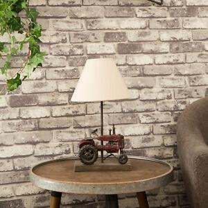 Glitzhome Farmhouse Rustic Truck Industrial Retro Table Lamp Desk