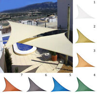 UV Block Sun Shade Sail Garden Patio Triangle Awning Canopy Sunscreen Outdoor