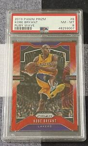 2019 Panini Prizm KOBE BRYANT #8 Ruby Wave PSA 8 Lakers