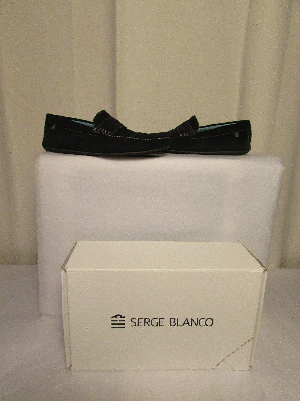 Mocasines Serge blancooo ante Azul Marino 40