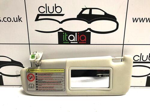 Fiat 500 Ivory Passenger Side Sunvisor Fits all Fiat 500