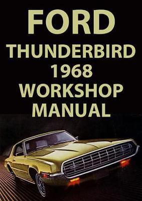 1968 FORD THUNDERBIRD WORKSHOP MANUAL
