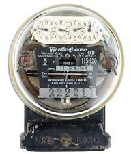 Vintage Westinghouse 5 Amp 115 120 Volt Type Ob Electric Meter