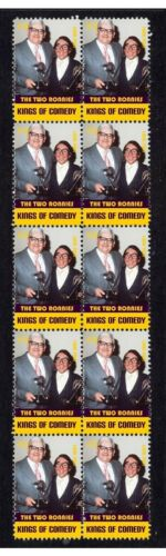THE TWO RONNIES COMEDY KINGS STRIP OF 10 MINT VIGNETTE STAMPS 2