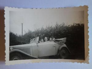 original-Foto-6-x-9-cm-1930er-Jahre-Auto-Automobil-Cabriolet