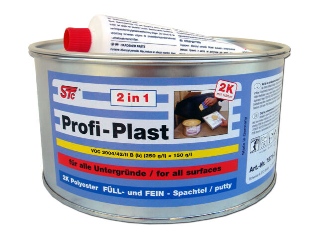 2 kg STC Profi Plast 2in1 2K Karosserie Polyester Spachtelmasse Füllspachtel