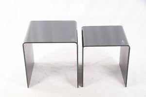 Glastisch schwarzglas  Glastisch ausziehbar Schwarz Glas Tisch Beistelltisch Podest Aufsatz ...
