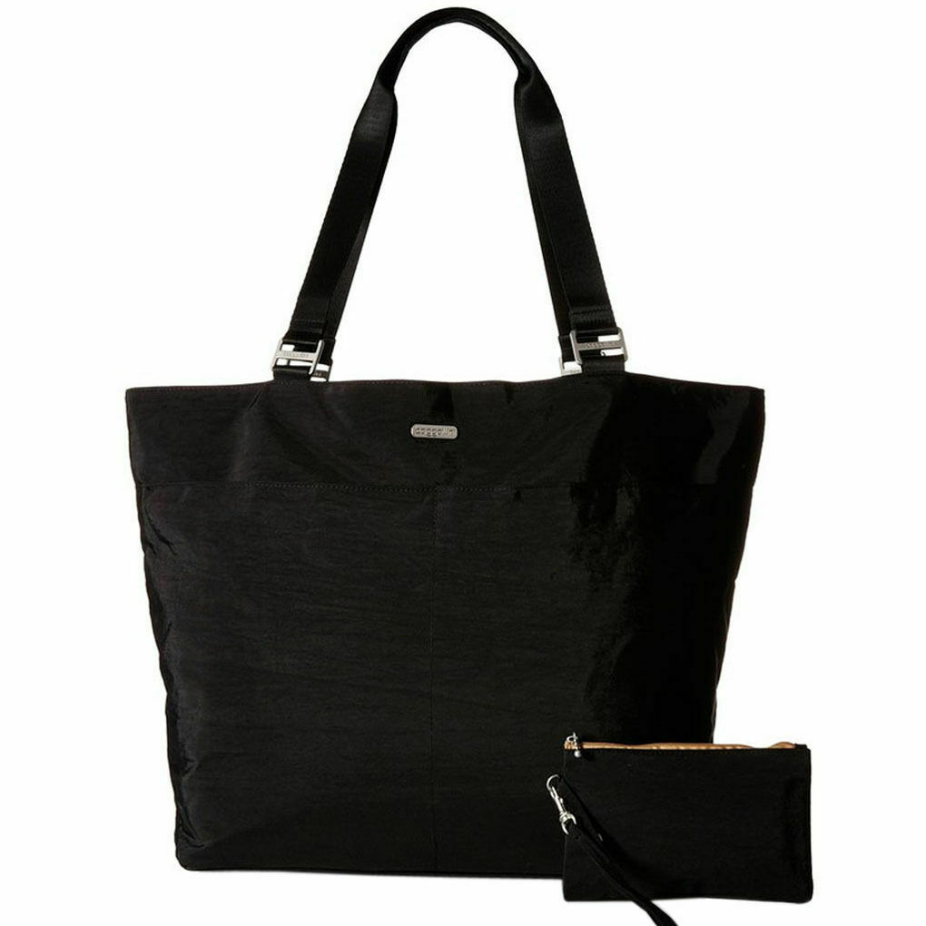 a451858dd3c3 baggallini Carry All Travel Tote Black Back Doubles as Trolly Sleeve W/tag