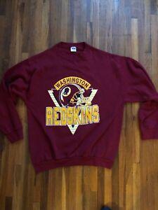eb0063e0 Details about Vintage 1990's Washington Redskins Sweatshirt Trench USA  Brand, USA MADE