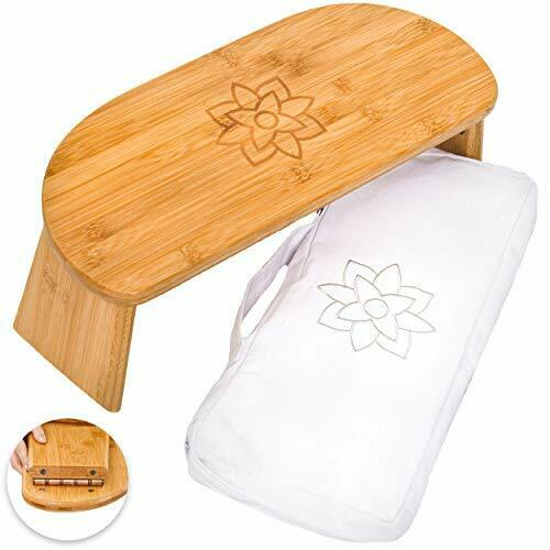 Wooden Mindful and Modern Folding Meditation Bench with Locking Magnetic Hinges