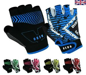 Kids Cycling Padded Gloves Bicycle Cycle BMX Gloves Children Youths Junior UK
