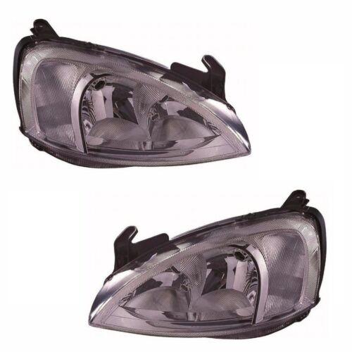 For Vauxhall Corsa C Mk2 Van 10//20000//2003 Headlights Lamps 1 Pair O//S /& N//S