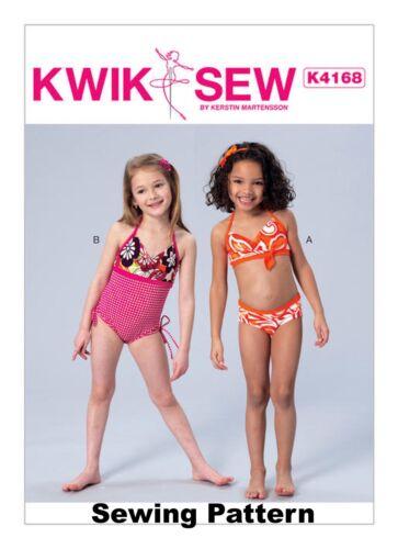 10 Kwik sew K4168 motif filles maillots de bain-bn-taille xxs 3 - l