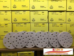150mm-6-034-Sanding-Discs-Sandpaper-KLINGSPOR-Premium-Soft-Backing-FESTOOL-Rotex