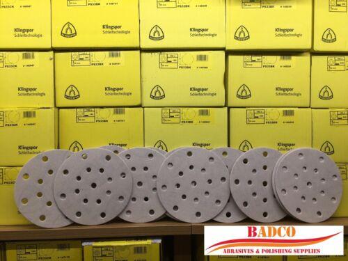 "Papier Abrasif Klingspor Premium Soft SOUTIEN FESTOOL ROTEX 150 mm 6/"" ponçage disque"