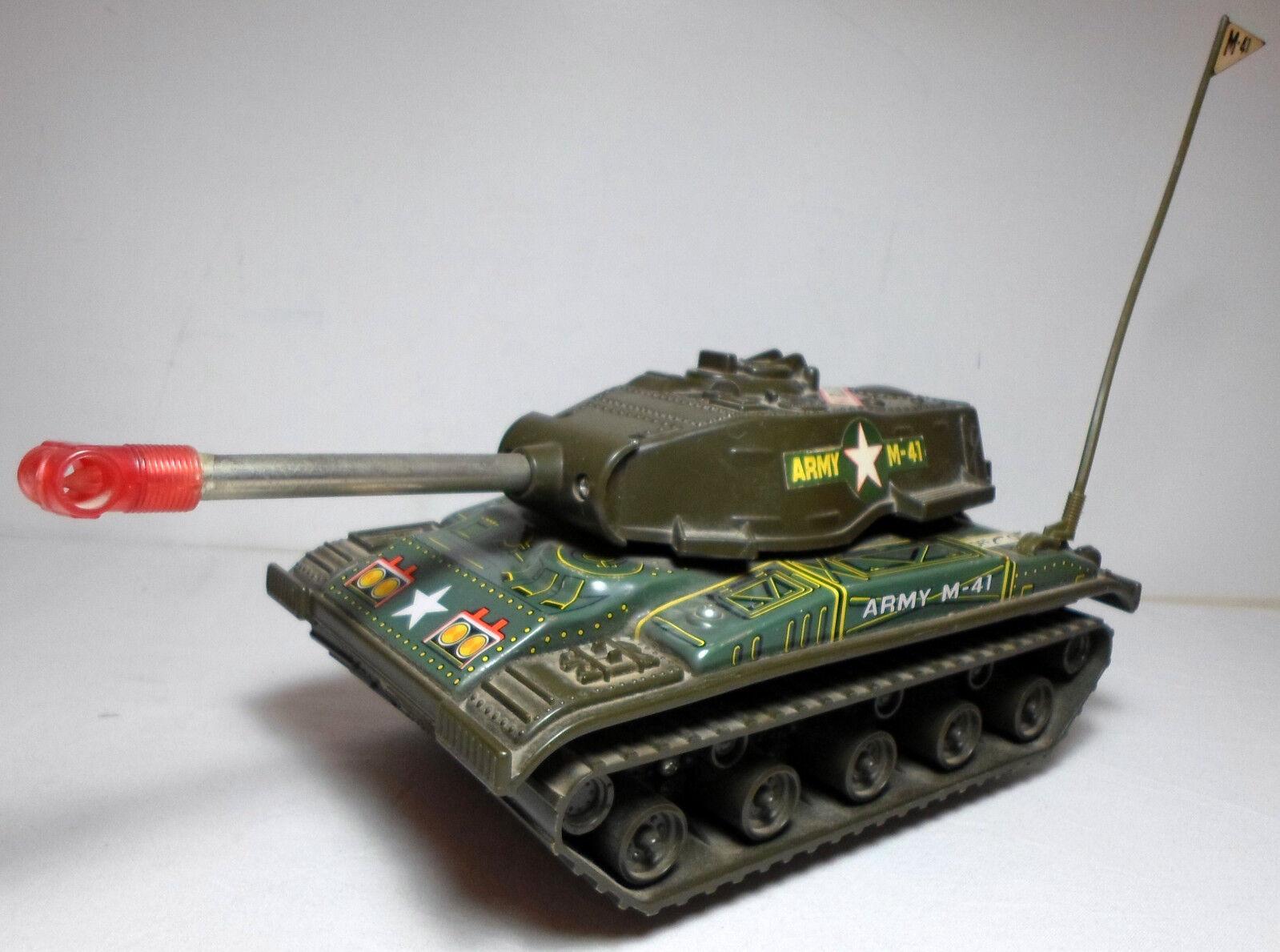 Junior Japón De Colección 60's Litho Tin M-41 Bulldog Tanque 8  B o Raro VHTF necesita reparación